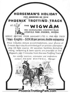Horseman's Holiday at the Wigwam