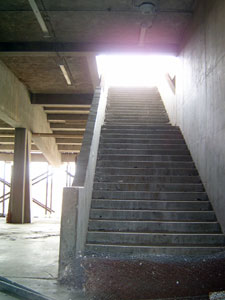 Stairs to grandstand level