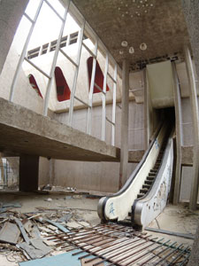 An old escalator